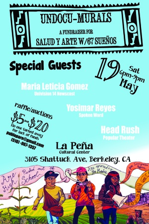 Mural Flyer May 19th Event at La Peña
